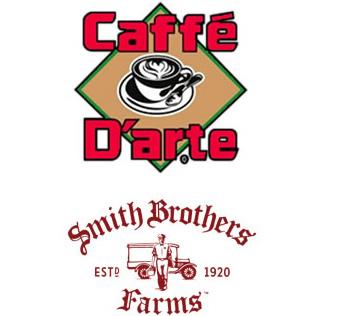 Caffe Darte Smith Brothers Farms Logo Lockup